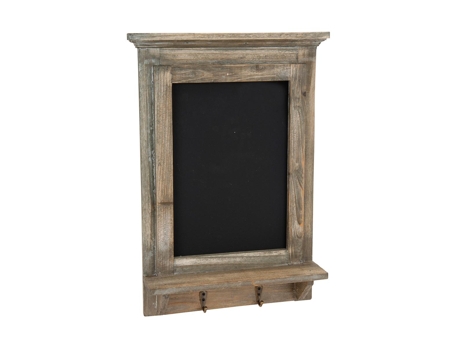Доска грифельная Old WoodОформление интерьера<br>Грифельная доска для заметок, с двумя вешалками<br>