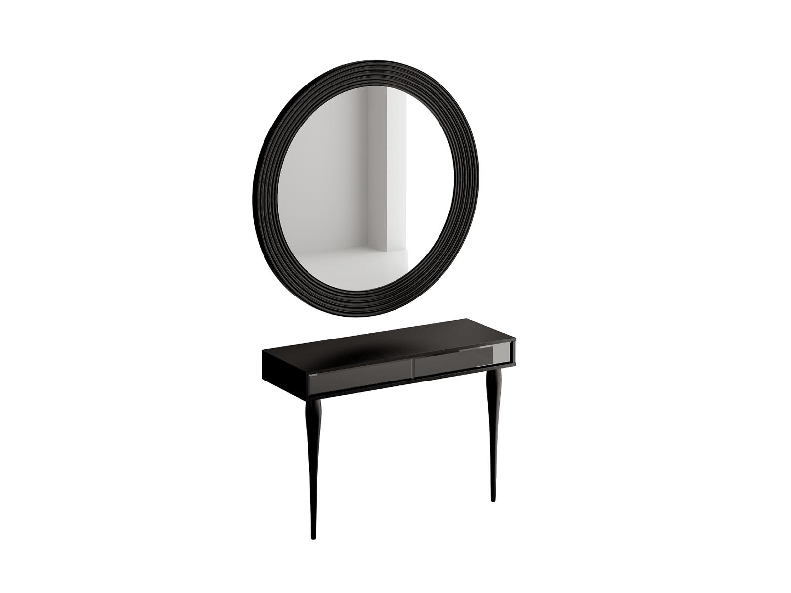 Туалетный столик с зеркалом CloudТуалетные столики<br>Комплект из зеркала и туалетного столика. Туалетный столик с двумя выдвижными ящиками. Ящики открываются по принципу нажал-открыл. Столик и зеркало необходимо крепить к стене.<br>