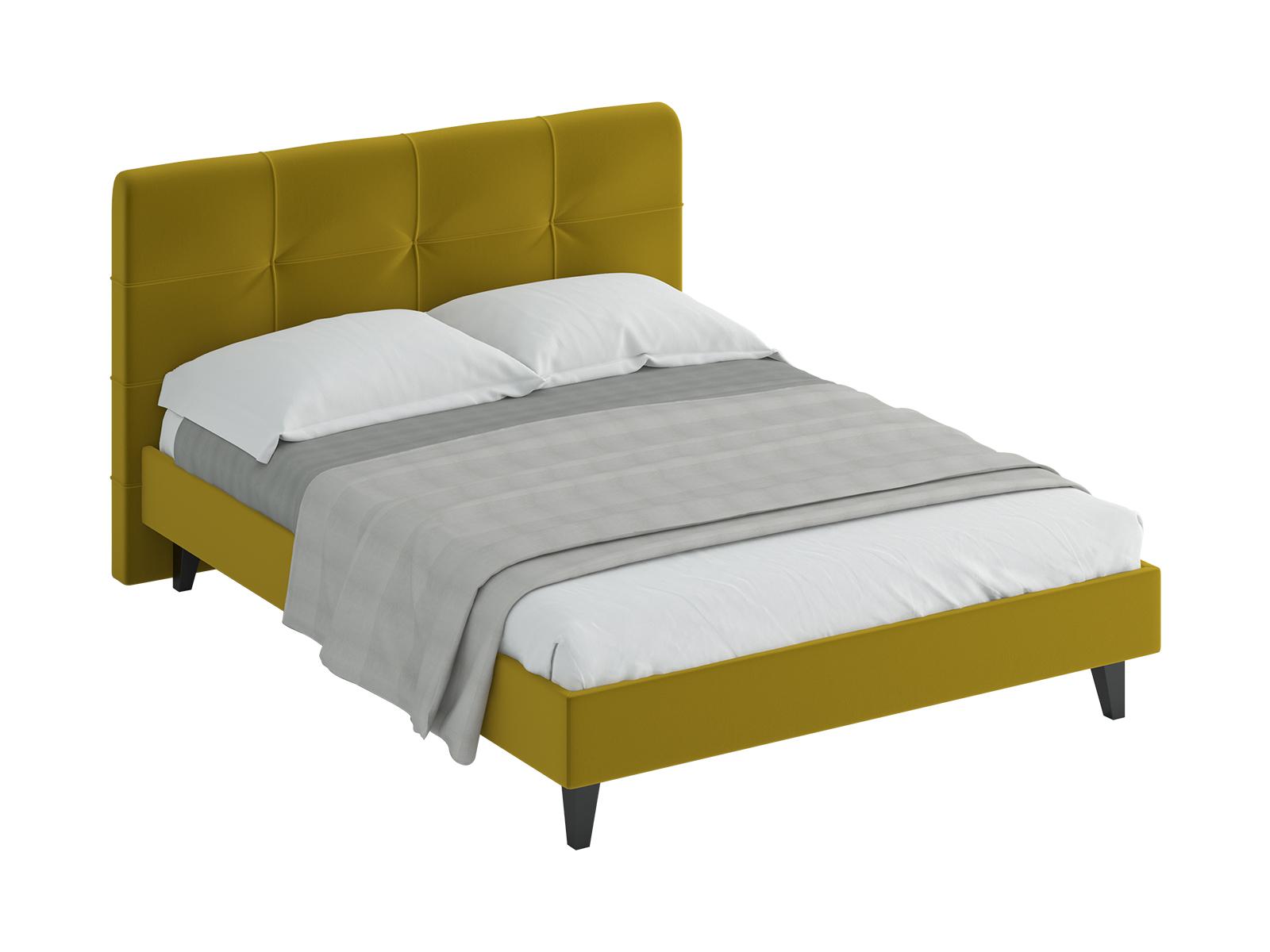 Кровать Queen Anna LКровати<br>Кровать двуспальная.  Спинка кровати оформлена декоративной строчкой. Основание установлено на ножки из массива дерева и обрамлено мягкими царгами. Размер спального места: 1600х2000 мм.<br>
