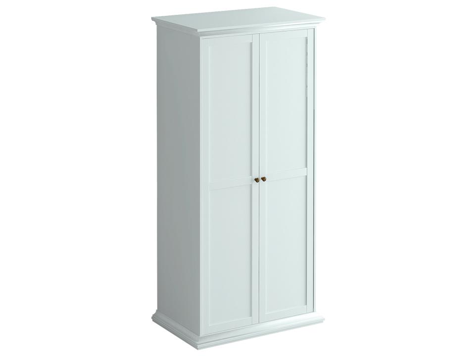 Шкаф ReinaШкафы и вешалки<br>Шкаф двухдверный состоит из двух отделений за распашными дверцами. В правом расположена штанга для одежды и полка, в левом – четыре полки.<br>