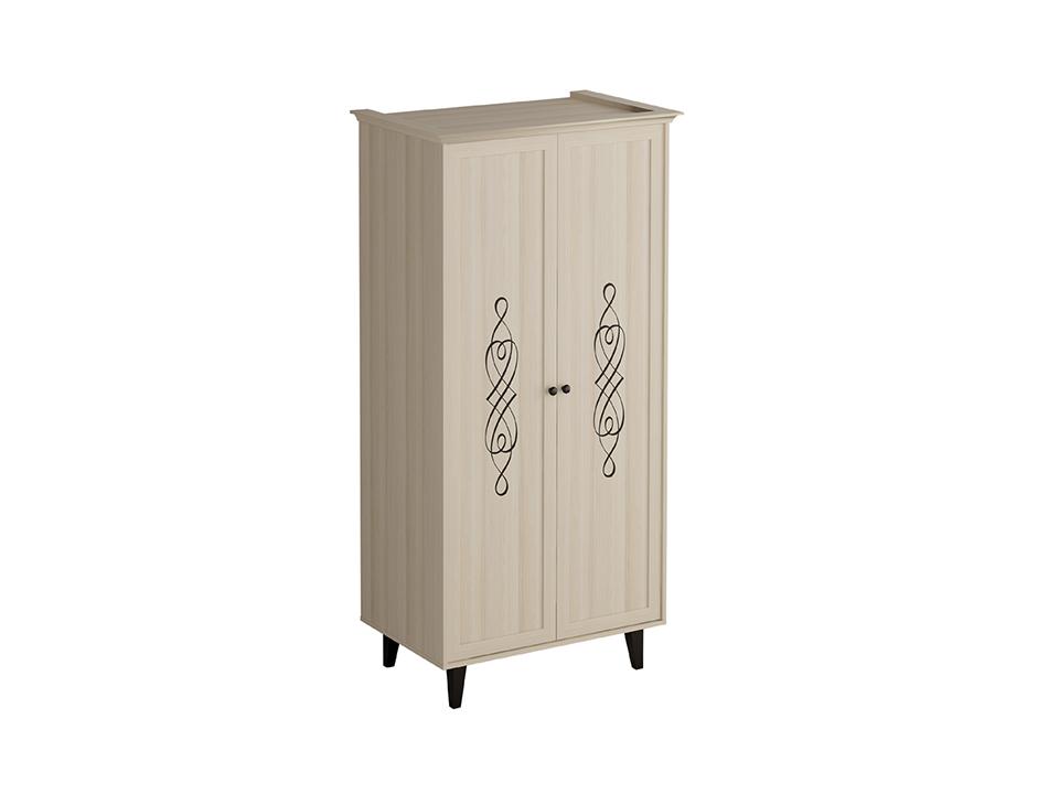 Шкаф QueenШкафы<br>Шкаф двухдверный с одной несъёмной верхней  полкой и штангой для хранения одежды на плечиках. Фасад декорирован виниловой аппликацией. Шкаф крепится к стене.<br>