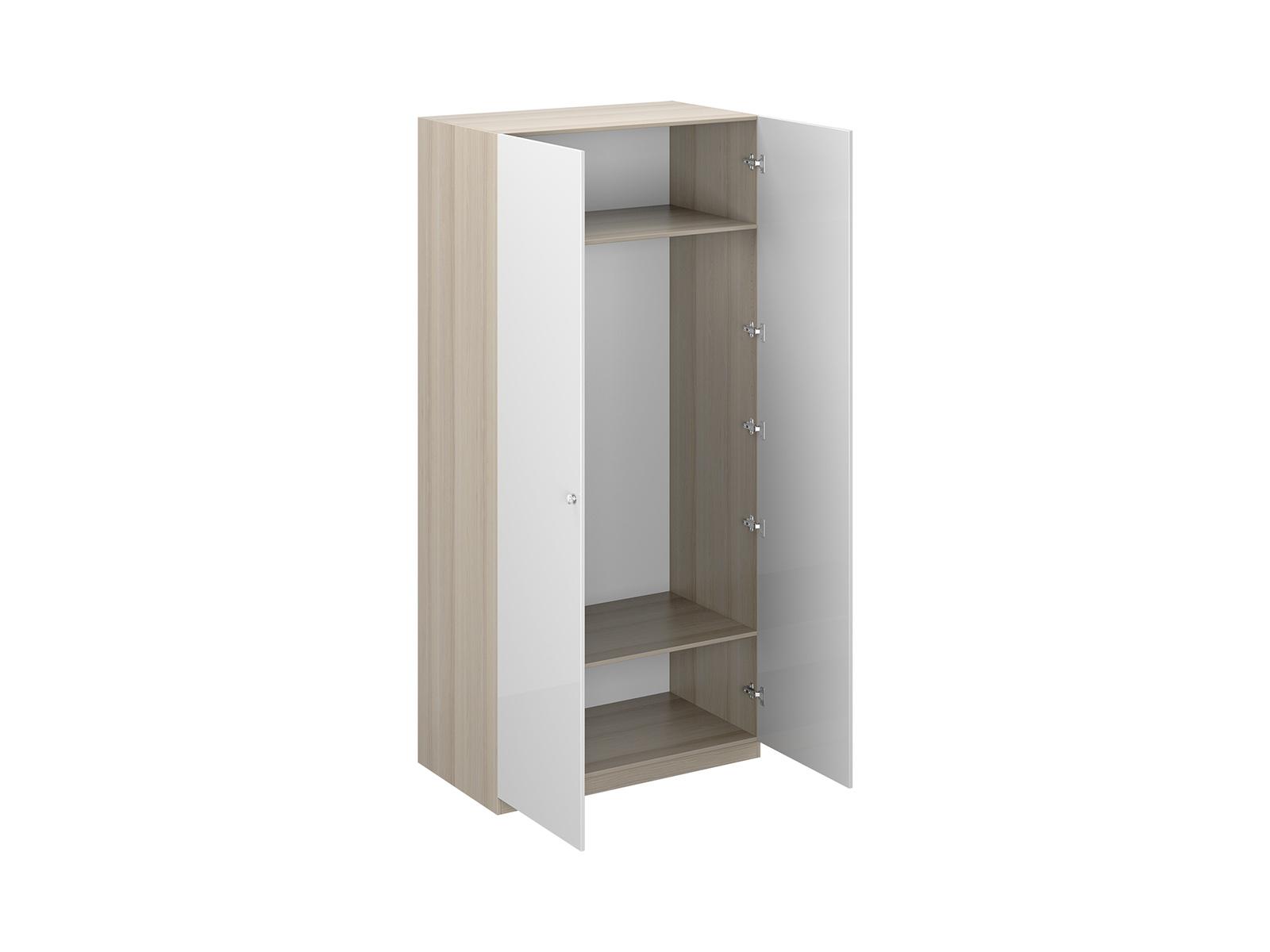 Шкаф Uno Ш2Шкафы<br>Шкаф двухдверный с одной стационарной верхней и одной съемной нижней полками. Установлен на регулируемые опоры. Данную мебель рекомендуется крепить к стене. Ручки и внутренние элементы продаются отдельно.<br>