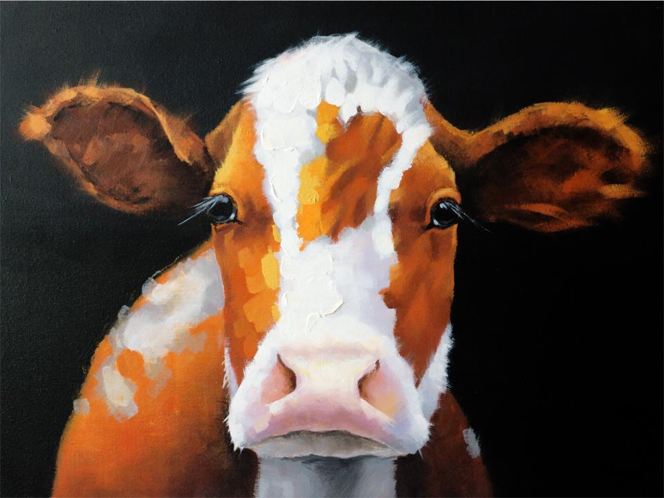 Холст CowХолсты<br>Холст на деревянной раме выполнен с применением масляных красок.<br>