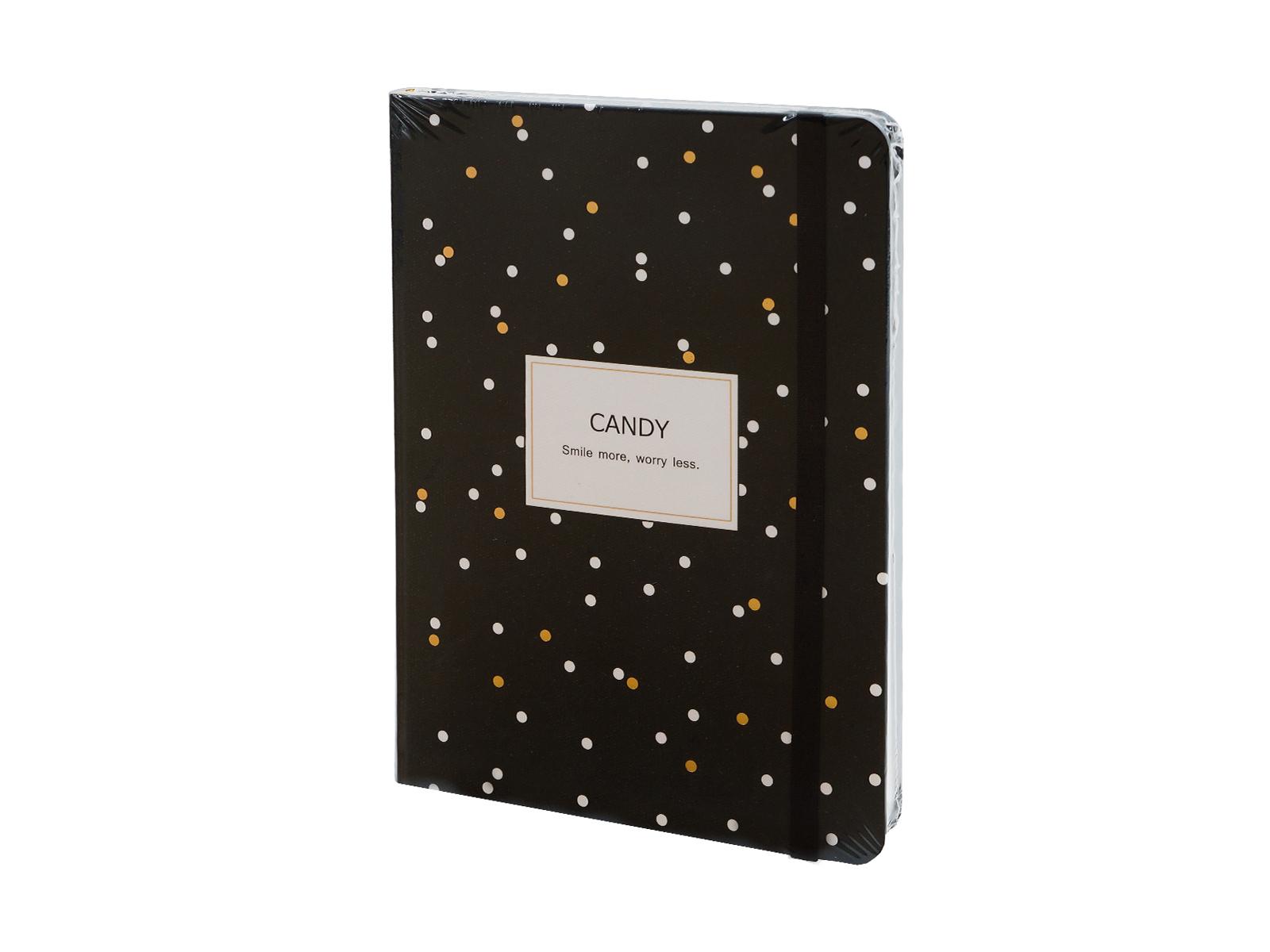 Тетрадь CandyКанцелярские товары<br>Дизайнерская тетрадь в твердой обложке, 192 стр.<br>
