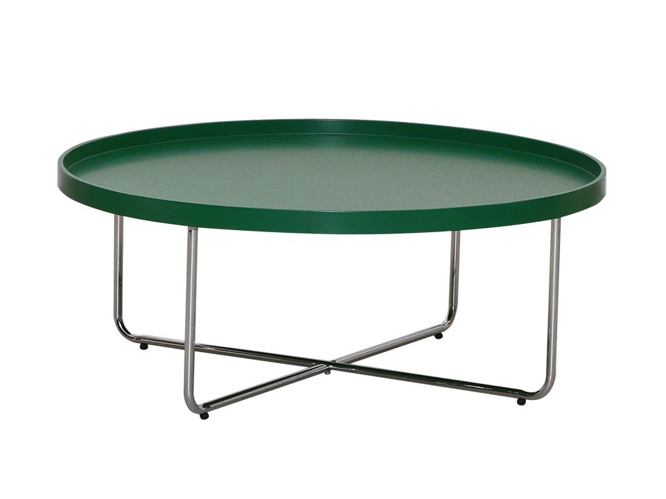 Стол кофейный JumpСтолы и столики<br>Стол кофейный с деревянной, окрашенной столешницей, на металлических хромированных ножках.<br>