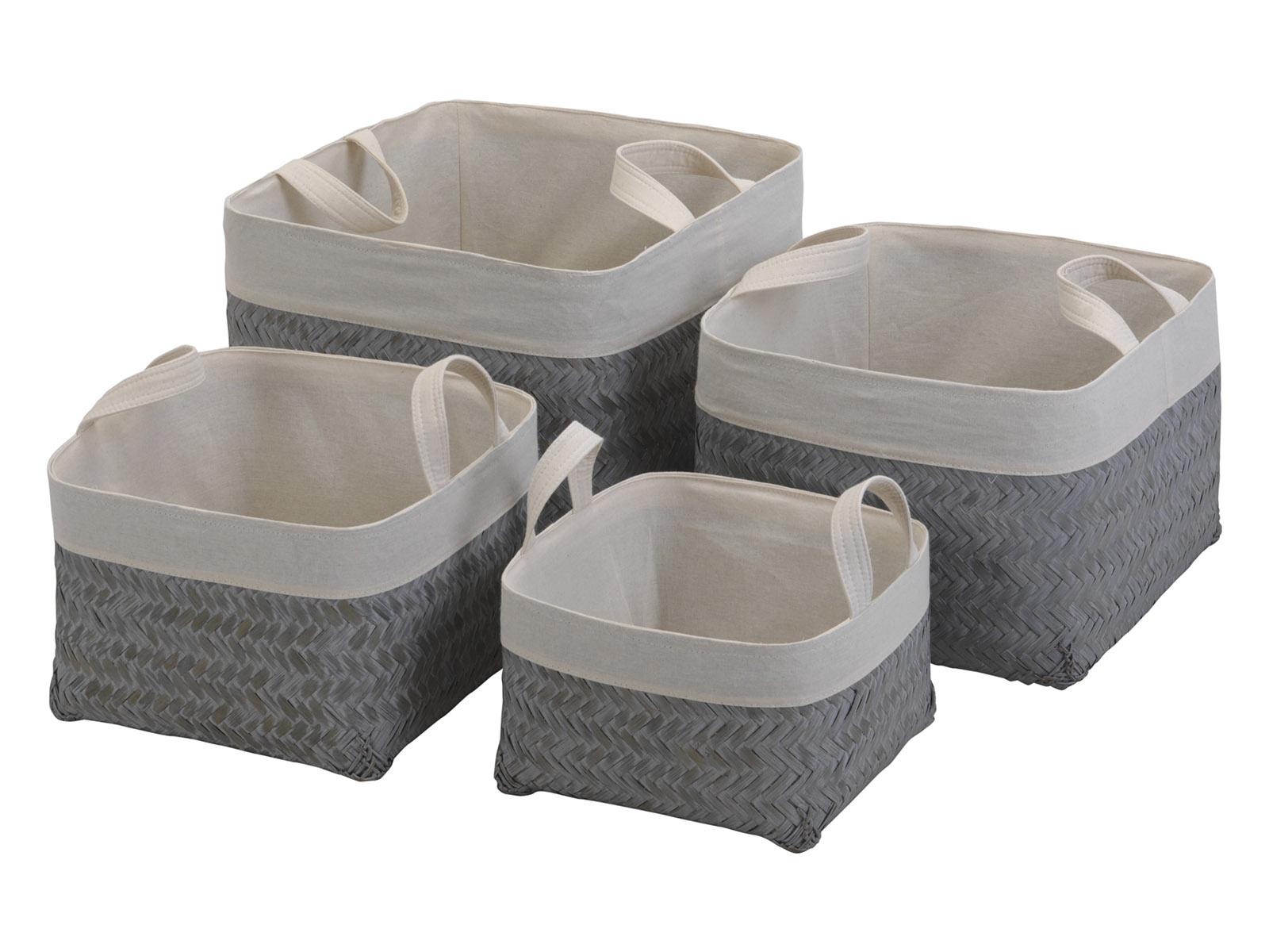 Набор корзин PalitraХранение<br>Набор корзин для хранения белья. В комплекте 4 корзины. Размер корзин: 26х16х23 см, 30х20х27 см, 34х24х31 см, 38х28х35 см.<br>