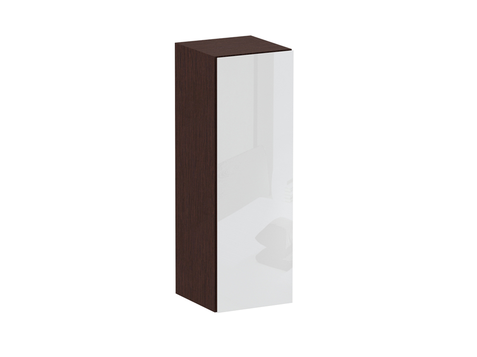 Пенал CuboШкафы<br>Шкаф-пенал с одним отделением за распашной дверью. Наполнение шкафа - две полки. В комплекте идут щитовые и стеклянные полки. Дверь открывается по принципу «нажал-открыл». Пенал крепится к стене.<br>