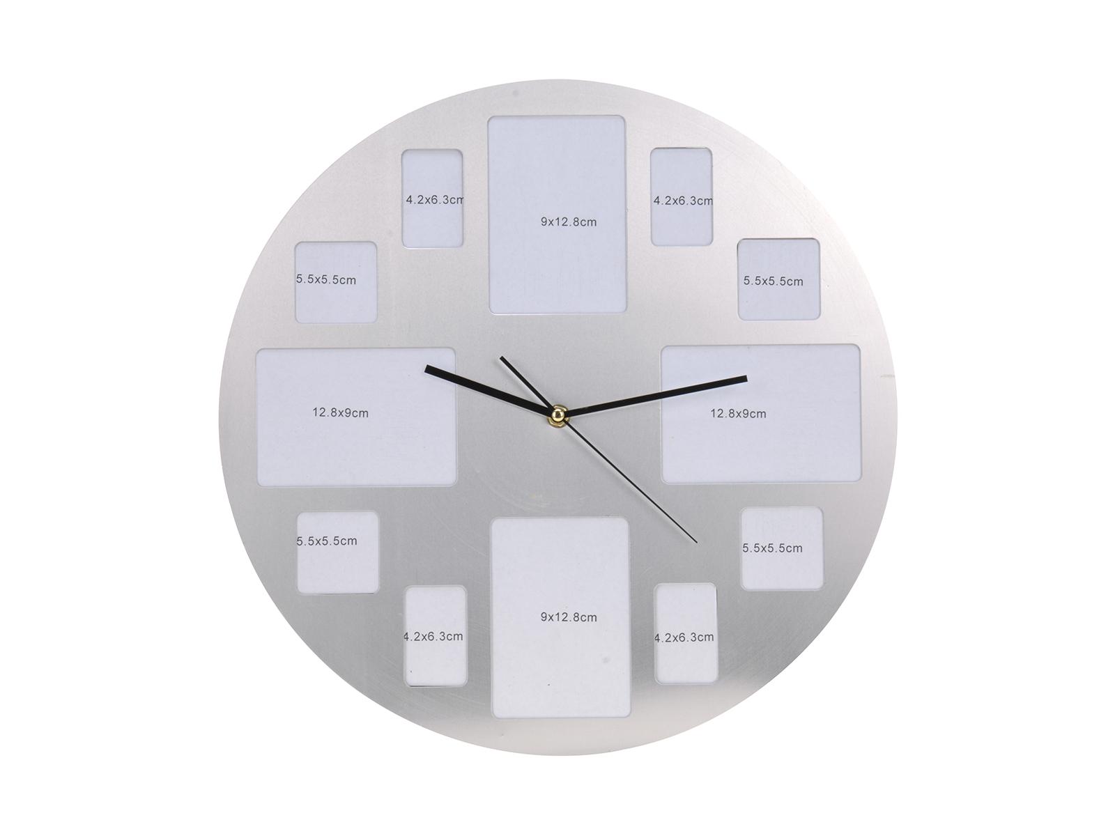 Часы FotoЧасы<br>Настенные часы с фоторамкой, в алюминиевом корпусе<br>