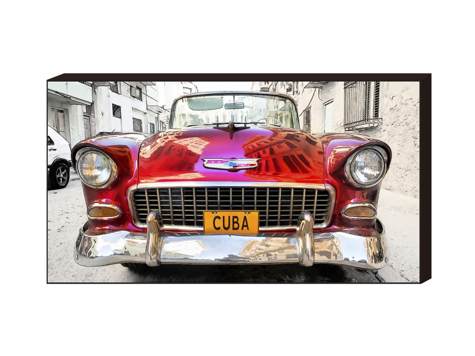 Постер Red Car Cuba, 500х1000 G-1030 ОГОГО Обстановочка!