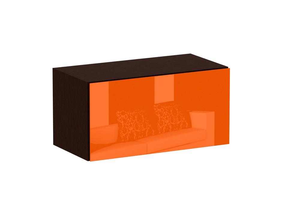 Секция верхняя CuboШкафы<br>Верхняя секция с одним отделением. Снабжена подъемной дверью на газовых кронштейнах. Дверь открывается по принципу «нажал - открыл». Секция крепится к стене.<br>