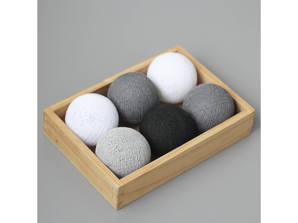 Гирлянда ThaiВигвамы<br>Тайская гирлянда - это электрическая гирлянда из хлопковых шаров. - шары выполнены из хлопковой нити и сделаны вручную. - мягкие шары легко мнутся и также легко выпрямляются. - внутри светодиод, который не нагревается.  - работает от 3 батареек типа AA.<br>