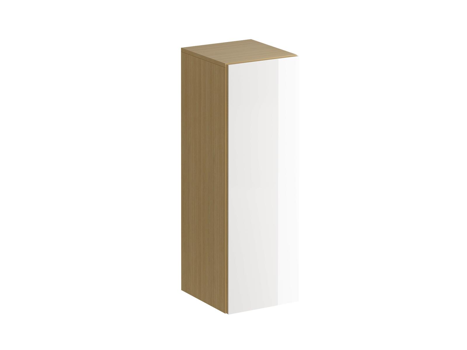 Шкаф навесной GustoШкафы<br>Шкаф имеет три отделения, образованные двумя съемными полками с возможностью переустановки по высоте. Распашная дверь открывается по принципу «нажал-открыл». Задняя стенка белого цвета.<br>