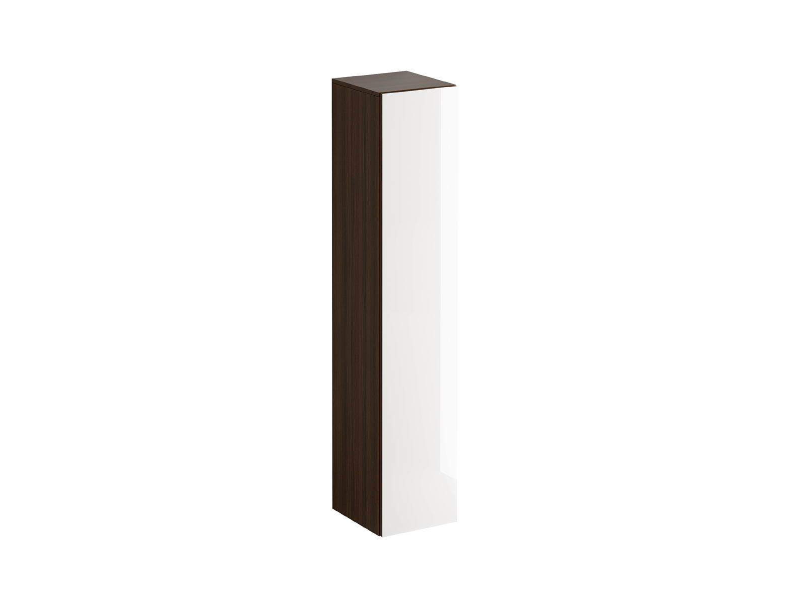 Пенал GustoШкафы<br>Пенал состоит из 5 отделений. Верхняя и нижняя полки – стационарные, две средние – съемные, с возможностью переустановки по высоте. Распашная дверь открывается по принципу «нажал-открыл». Задняя стенка черного цвета.<br>