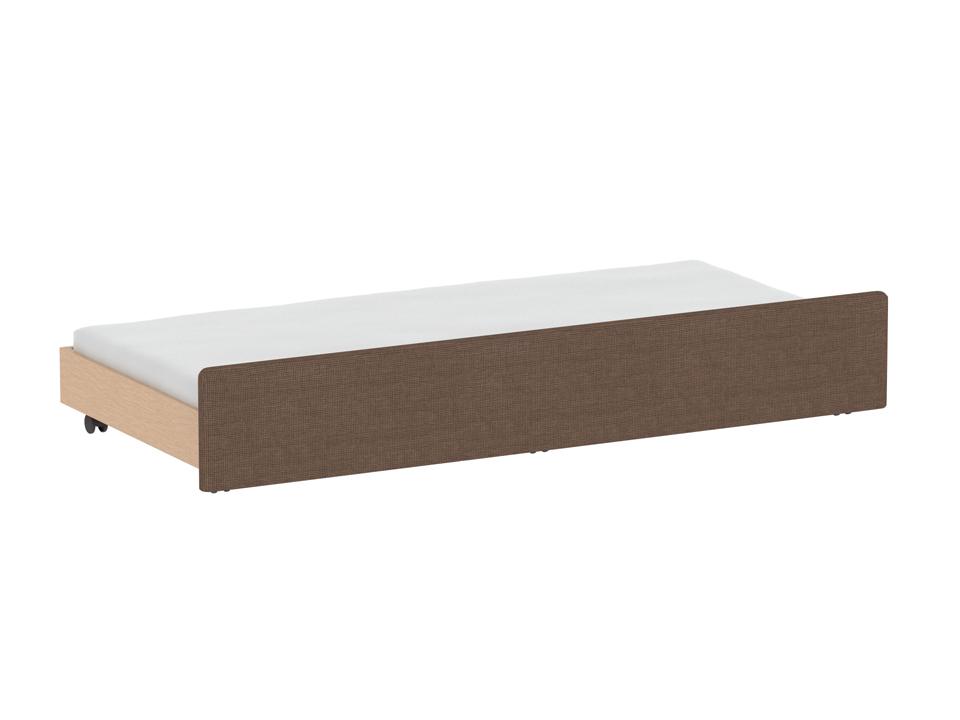 Секция StudioКровати<br>Дополнительная выкатная секция к кровати. Фасадная стенка секции облицована тканью. Секция может быть использована как кровать или как емкость для хранения. Для секции подходит матрац 900х1900 мм высотой до150 мм. Секция оснащена шестью колесными опорами,...<br>