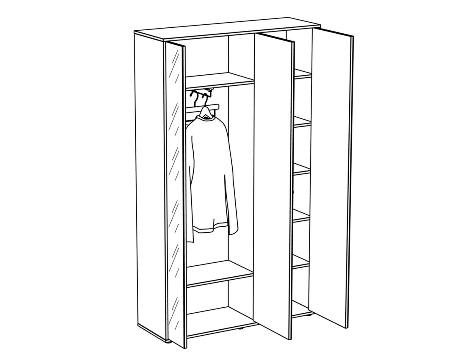 Шкаф трехдверный Latte