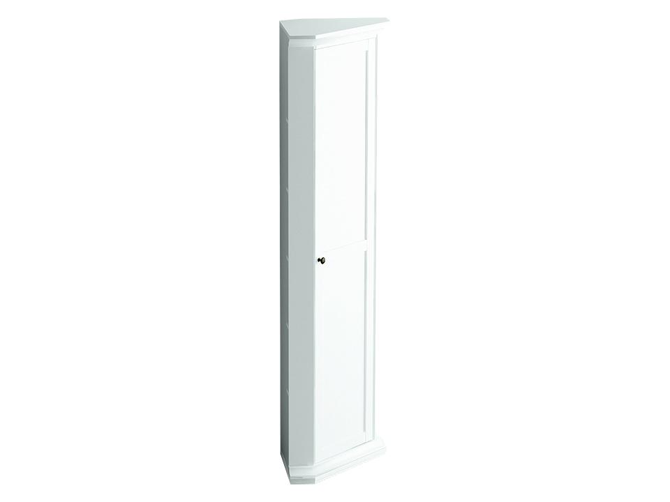 Шкаф угловойШкафы<br>Шкаф угловой состоит из одного деления за  распашной дверцей. Внутри расположена одна стационарная и четыре съемные полки для хранения вещей.<br>