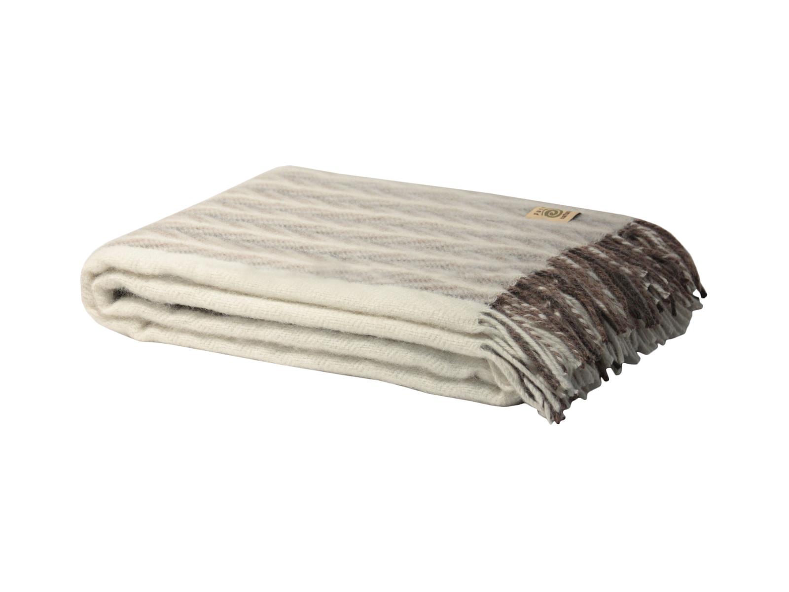 Плед EttoreПледы<br>Плед из натуральной шерсти альпаки и мериноса. - Шерсть альпаки в 6 раз теплее, чем овечья шерсть - Изделия из шерсти альпаки долго не пачкаются - В пледах используется только неокрашенная шерсть - Плед из шерсти альпаки отличается мягкостью, шелковистост...<br>