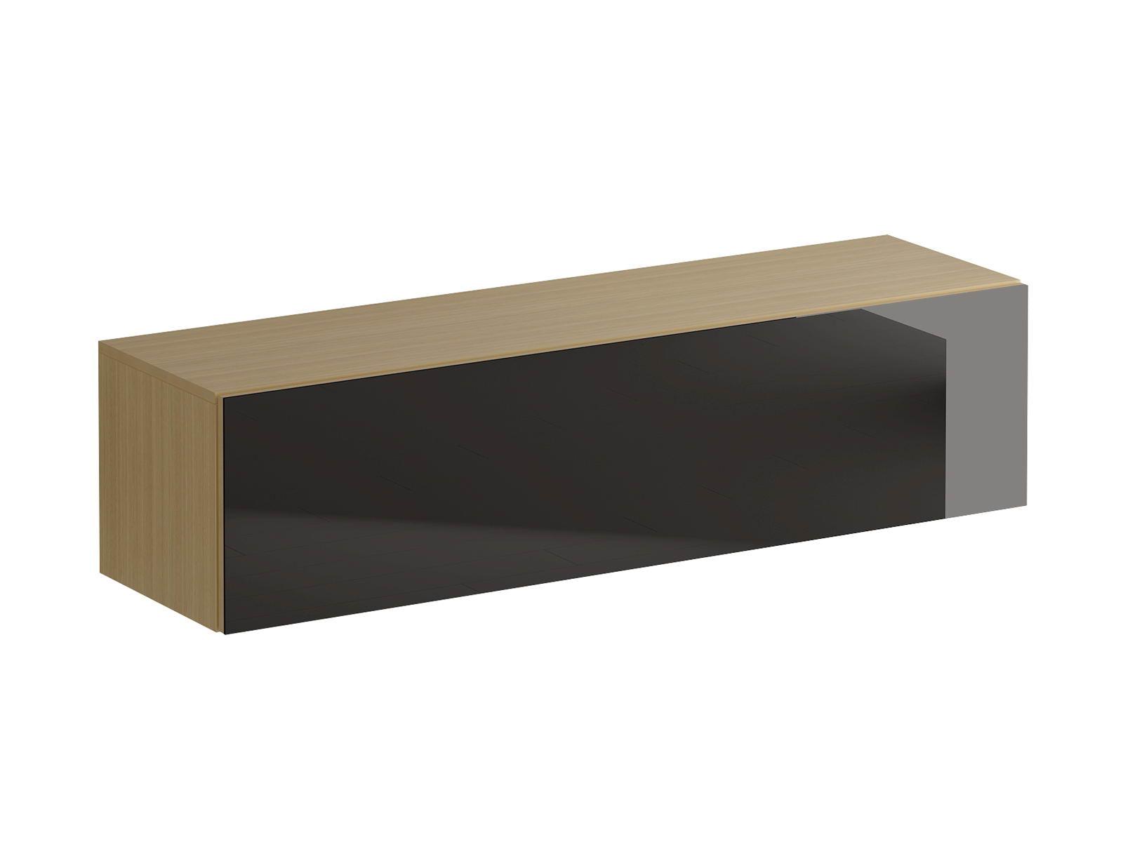 Шкаф навесной GustoШкафы<br>Шкаф имеет два отделения, образованные вертикальной перегородкой. Откидная дверь открывается по принципу «нажал-открыл». Задняя стенка белого цвета.<br>