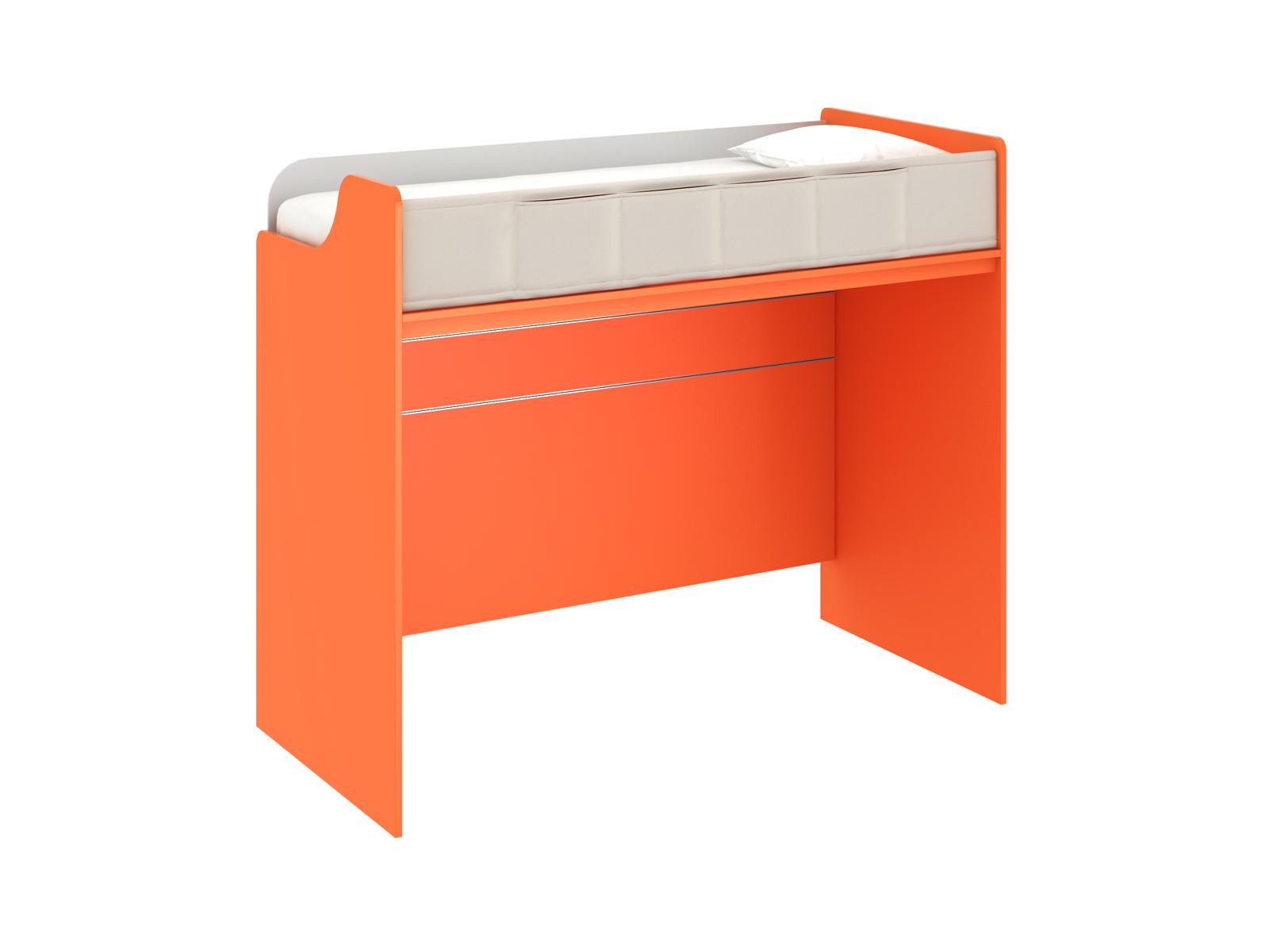 Кровать-чердак PinokkioКровати<br>Кровать-чердак. Размер спального места верхнего яруса -1000х2100 мм. Фасад верхнего яруса оформлен тканевым чехлом с карманами. В нижнем ярусе можно поставить угловой стол, односпальную кровать или низкий шкаф. Обязательно комплектуется лестницей.<br>