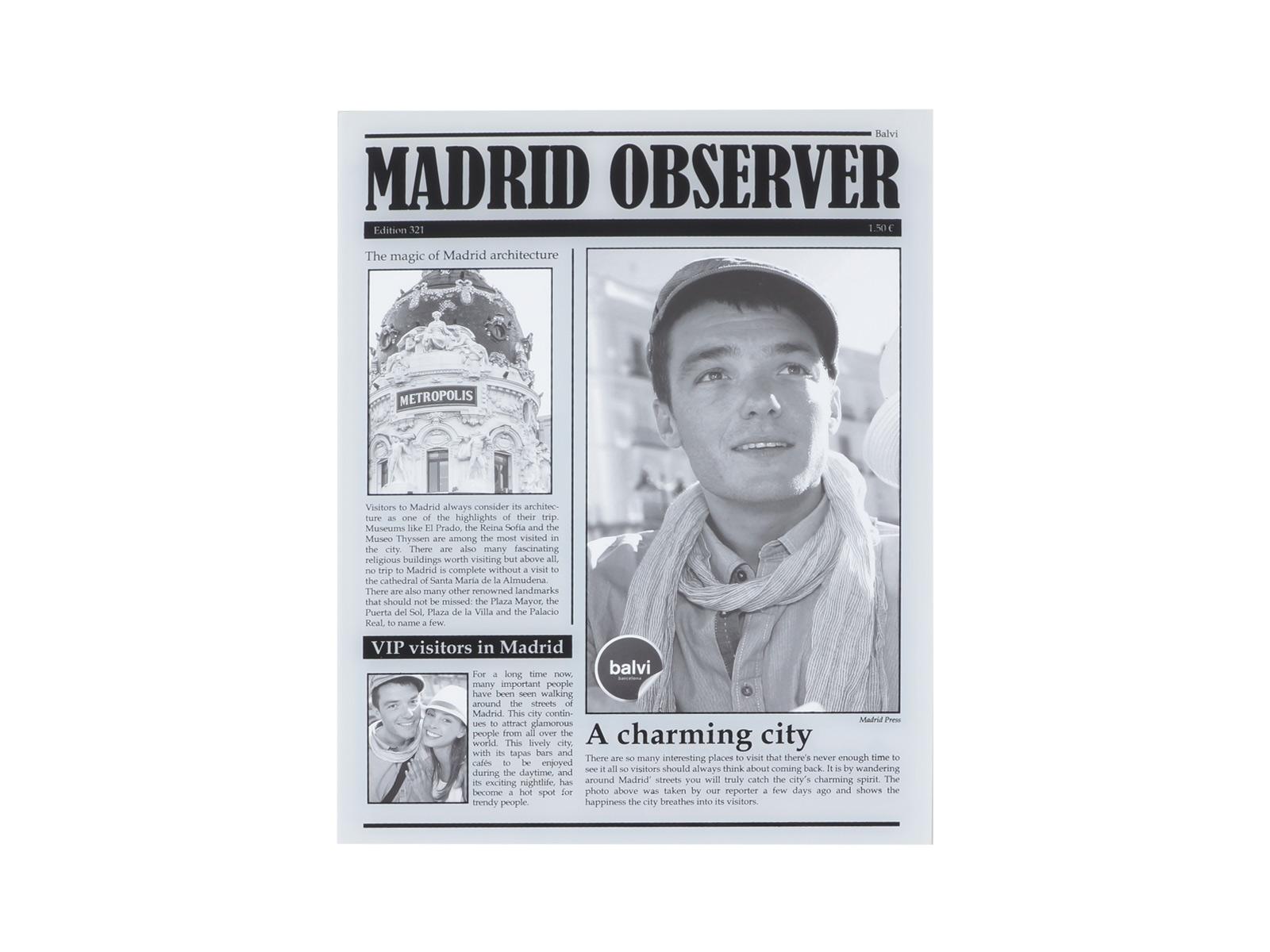 Фоторамка Madrid ObserverФоторамки<br>Фоторамка настольная, 15x20 см<br>